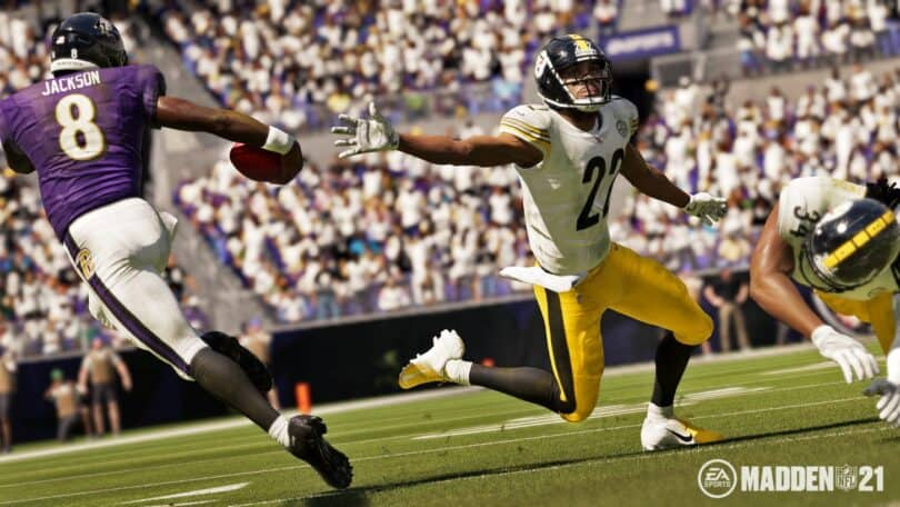PLaystation Madden NFL 21 gameplay